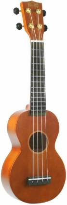 Mahalo Ukuleles MR1-TBR-K Rainbow Series Learn 2 Play Pack Soprano Transparent Brown 4 String RH Ukulele and Accessories mr-1-tbr-k Product Image 3