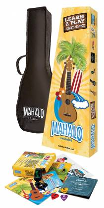 Mahalo Ukuleles MR1-TBR-K Rainbow Series Learn 2 Play Pack Soprano Transparent Brown 4 String RH Ukulele and Accessories mr-1-tbr-k Product Image 2