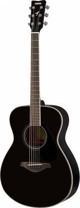 Yamaha FS820 BL FS Series Concert 6-String RH Acoustic Guitar-Black fs-820-bl Product Image 4