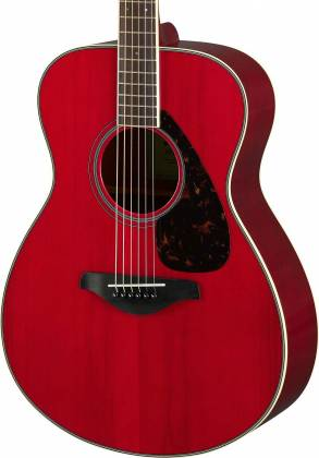 Yamaha FS820 RR FS Series Concert 6-String RH Acoustic Guitar-Ruby Red fs-820-rr Product Image 4