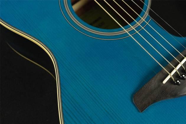 Yamaha FS820 TQ FS Series Concert 6-String RH Acoustic Guitar-Turquoise fs-820-tq Product Image 5