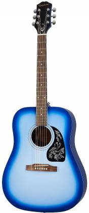 Epiphone EASTARBLCH Starling Square Shoulder 6-String RH Dreadnought Acoustic Guitar-Starlight Blue eastarblch Product Image 2