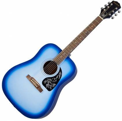 Epiphone EASTARBLCH Starling Square Shoulder 6-String RH Dreadnought Acoustic Guitar-Starlight Blue eastarblch Product Image