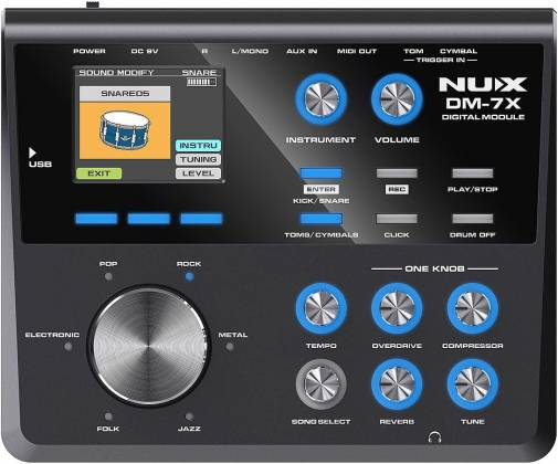 Nux DM-7X Professional Digital Drum Set with All Mesh Heads dm-7-x Product Image 4