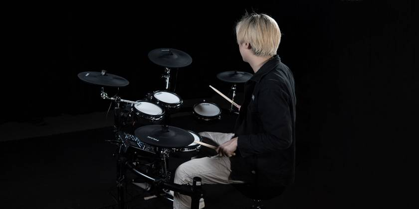 Nux DM-7X Professional Digital Drum Set with All Mesh Heads dm-7-x Product Image 7