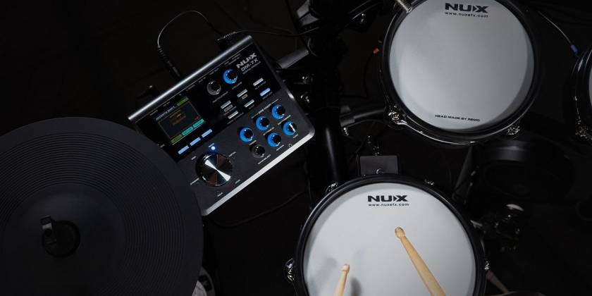 Nux DM-7X Professional Digital Drum Set with All Mesh Heads dm-7-x Product Image 6
