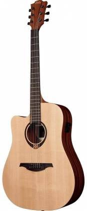 Lag TL70DCE Tramontane Series 6-String LH Dreadnought Cutaway Acoustic Electric Guitar-Natural Satin tl-70-dce Product Image 5