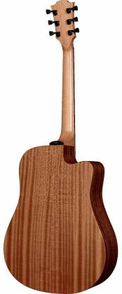 Lag TL70DCE Tramontane Series 6-String LH Dreadnought Cutaway Acoustic Electric Guitar-Natural Satin tl-70-dce Product Image 4