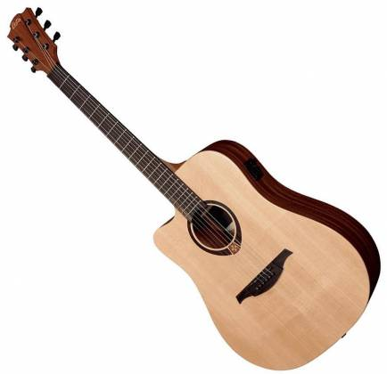 Lag TL70DCE Tramontane Series 6-String LH Dreadnought Cutaway Acoustic Electric Guitar-Natural Satin tl-70-dce Product Image
