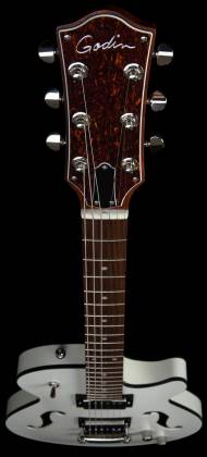 Godin 050222 Montreal Premiere HT Trans White 6 String RH Hollowbody Guitar with Gigbag 050222 Product Image 4