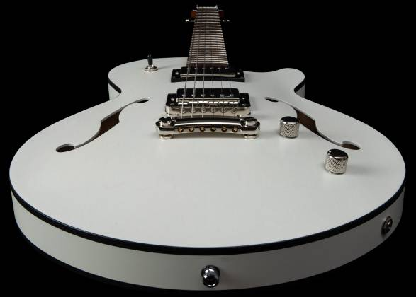 Godin 050222 Montreal Premiere HT Trans White 6 String RH Hollowbody Guitar with Gigbag 050222 Product Image 3
