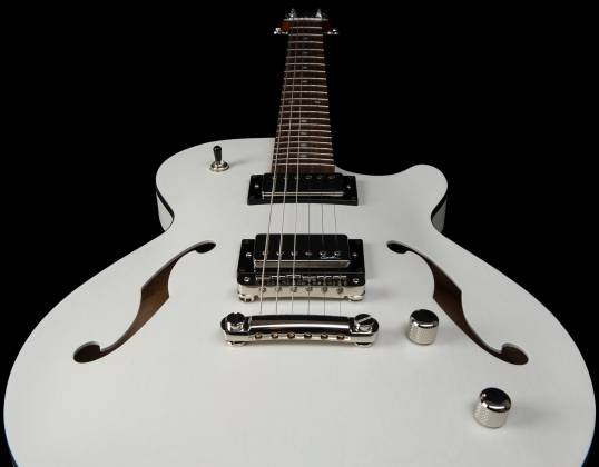 Godin 050222 Montreal Premiere HT Trans White 6 String RH Hollowbody Guitar with Gigbag 050222 Product Image 11