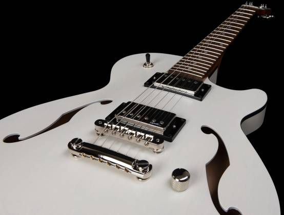Godin 050222 Montreal Premiere HT Trans White 6 String RH Hollowbody Guitar with Gigbag 050222 Product Image 9
