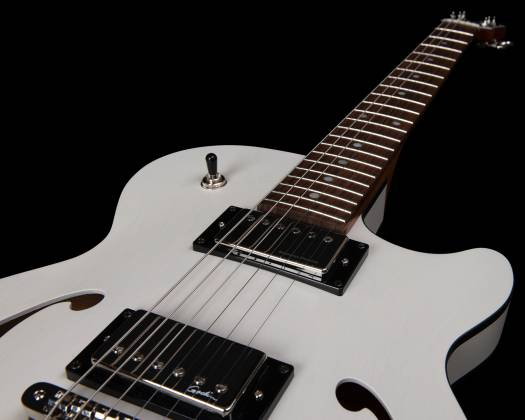 Godin 050222 Montreal Premiere HT Trans White 6 String RH Hollowbody Guitar with Gigbag 050222 Product Image 8