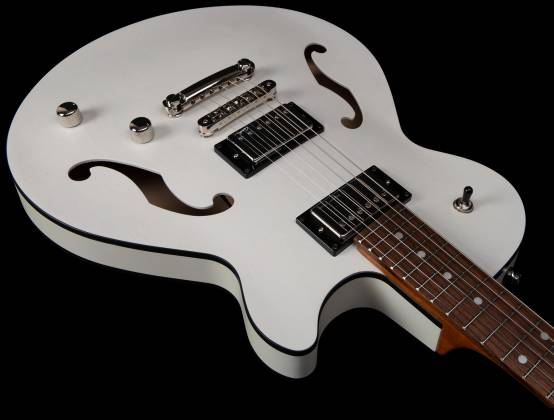 Godin 050222 Montreal Premiere HT Trans White 6 String RH Hollowbody Guitar with Gigbag 050222 Product Image 7