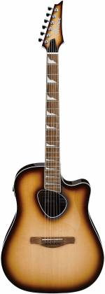 Ibanez ALT30NNB Altstar Series 6-String RH Acoustic Electric Guitar-Natural Browned Burst High Gloss alt-30-nnb Product Image 2