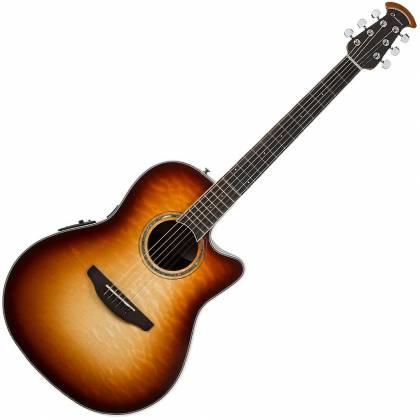 Ovation CS24X-7C Celebrity Standard Plus 6-String RH Acoustic Electric Guitar-Cognac Burst Gloss cs-24-x-7-c Product Image