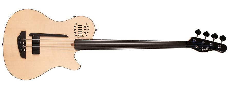 Godin 033645 A4 Ultra Natural SG Fretless EN SA 4 String Bass Product Image 3