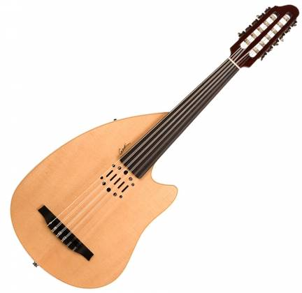 Godin 035014 Multi Oud Ambiance Nylon Natural HG Fretless 11 String  Acoustic Electric Guitar