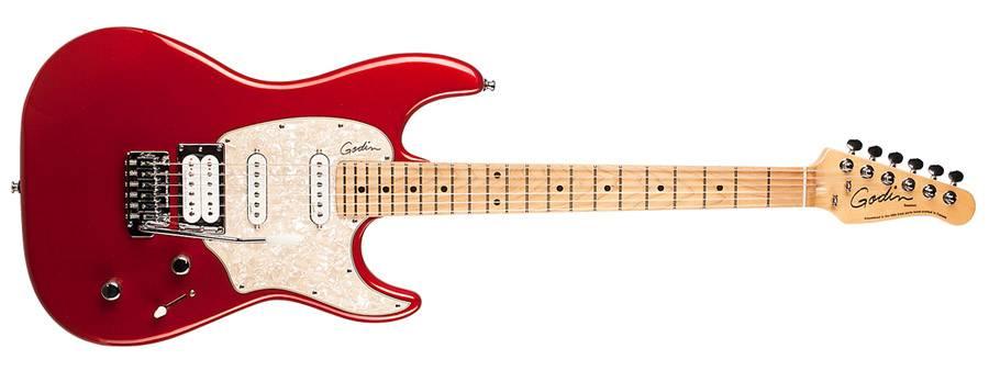 Godin 041190 Session Desert Red HG MN LTD 6 String Electric Guitar Product Image 2