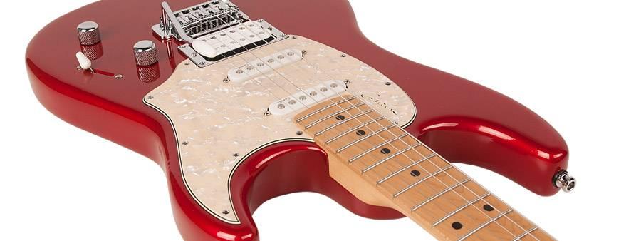 Godin 041190 Session Desert Red HG MN LTD 6 String Electric Guitar Product Image 5