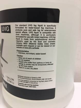 Antari UVG Fog Fluid 3.78 litres 1 gallon - universal uvg Product Image 2