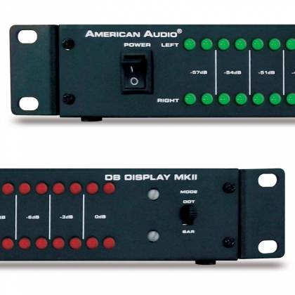 "American DJ DB-DISPLAY-MKII  19"" LED dB Level Display & Amp Rack  Product Image 4"