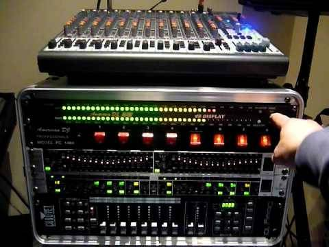 "American DJ DB-DISPLAY-MKII  19"" LED dB Level Display & Amp Rack  Product Image 8"