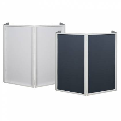 American DJ Event Facade II WH White Frame Portable DJ Facade with Bag & Black/White Scrim Product Image 2