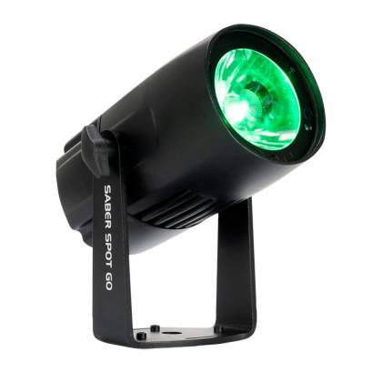 American DJ Saber-Spot-Go Battery Powered Compact 15W 4-in-1 Quad RGBW LED Pin Spot Product Image 2