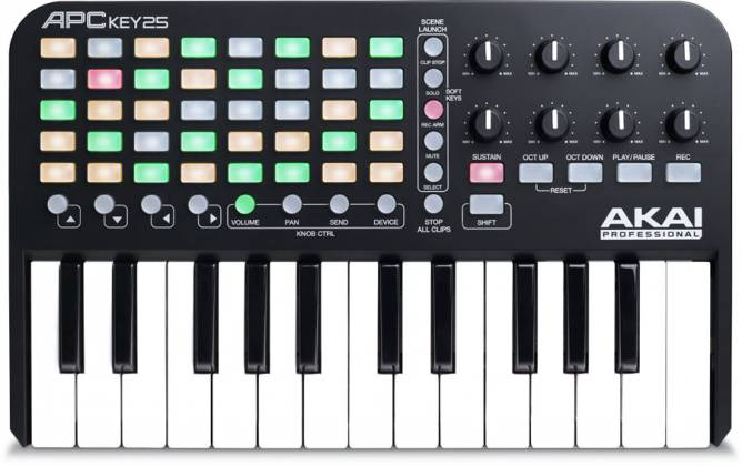 Akai APCKEY25 Ableton Live Controller with Keyboard Product Image 3