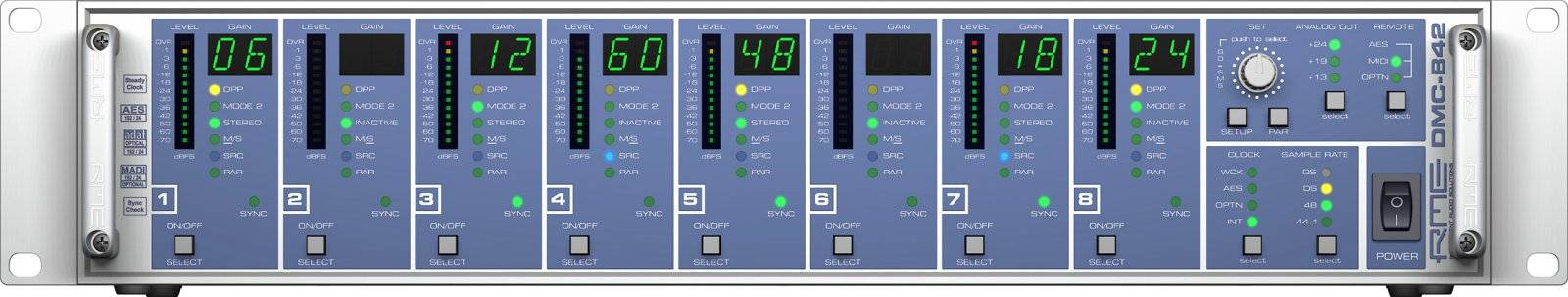 RME DMC842 8-Channel Digital Mic Preamp dmc-842 Product Image 2