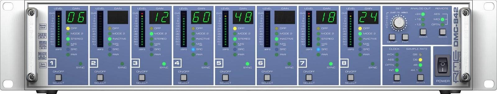RME DMC842 8-Channel Digital Mic Preamp dmc-842 Product Image 2