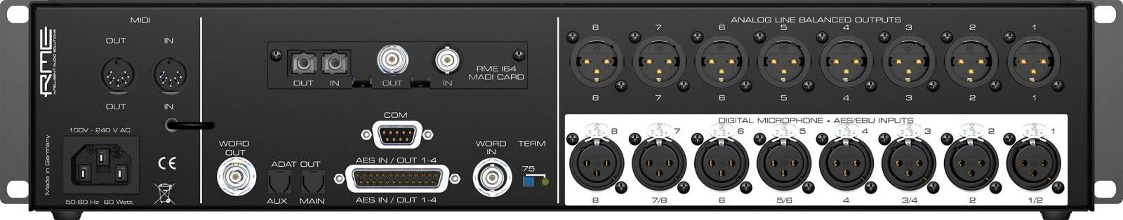 RME DMC842 8-Channel Digital Mic Preamp dmc-842 Product Image 3