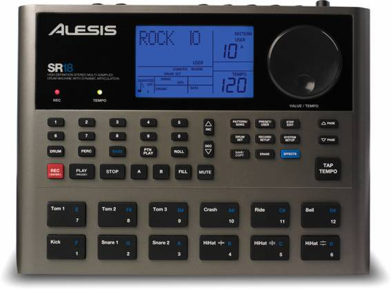 Alesis SR18X110 Portable Drum Machine with Effects Product Image 3