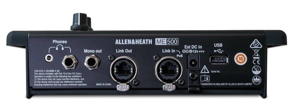 Allen & Heath ME-500 16 Channel Personal Mixer Product Image 4
