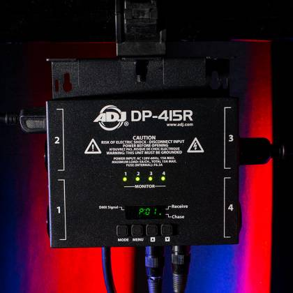 American DJ DPR-415 RDM Compliant 4 Channel Dimmer/Switch Pack Product Image 6