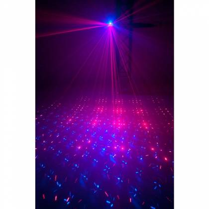 American DJ MICRO-ROYAL-GALAXIAN-II Portable Red and Blue Party Laser Effect  Product Image 2