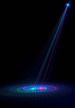 American DJ Rayzer Startec Series 2-In-1 RGB Laser and LED Wash Light Product Image 12