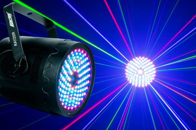 American DJ Rayzer Startec Series 2-In-1 RGB Laser and LED Wash Light Product Image 17