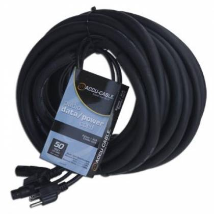 American DJ SKAC50 Audio Data and Power 50 Foot AC/XLR Combo Cable Product Image 2