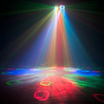 American DJ STINGER-GOBO 3-FX-IN-1 LED Moonflower with Gobos, Color Wash Effects and Red/Green Laser Product Image 2