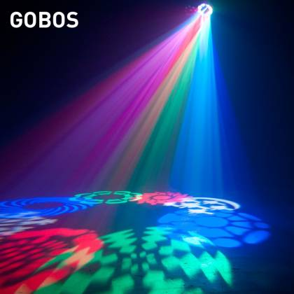 American DJ STINGER-GOBO 3-FX-IN-1 LED Moonflower with Gobos, Color Wash Effects and Red/Green Laser Product Image 7