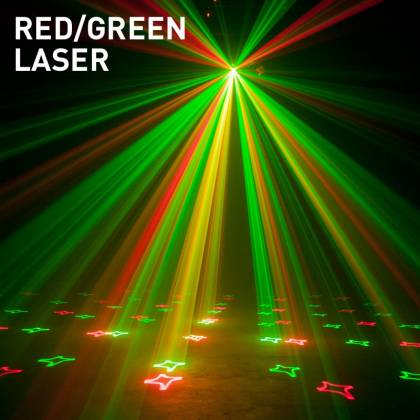 American DJ STINGER-STAR 3-FX-IN-1 LED Moonflower, Color Wash, and Red/Green Laser Product Image 7