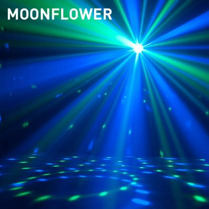 American DJ STINGER-STAR 3-FX-IN-1 LED Moonflower, Color Wash, and Red/Green Laser Product Image 8
