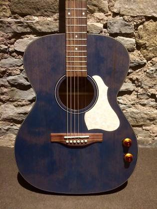 Art & Lutherie 047086 LEGACY Concert 6 String RH Acoustic Electric Guitar - Denim Blue Product Image 3