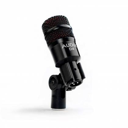Audix D4 Hypercardioid Low-frequency Microphone for Kick Drum and Toms Product Image 3