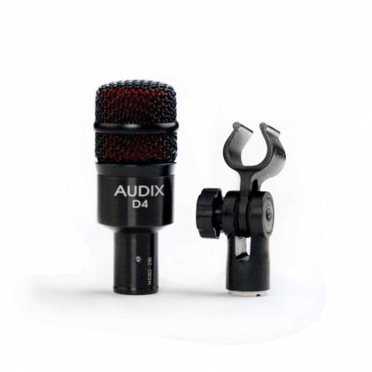Audix D4 Hypercardioid Low-frequency Microphone for Kick Drum and Toms Product Image 4