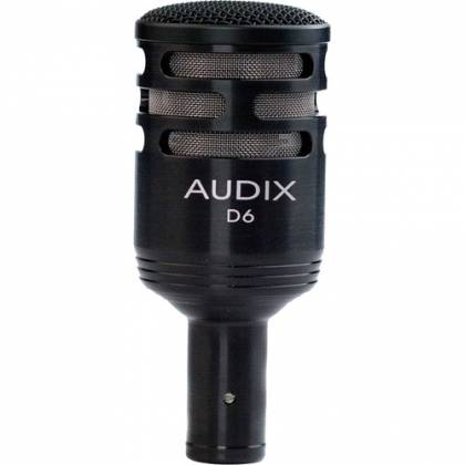 Audix D6 - Dynamic Cardioid Kick Drum Microphone - Black Product Image 2