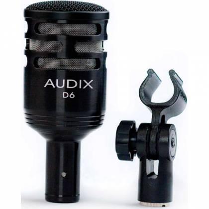 Audix D6 - Dynamic Cardioid Kick Drum Microphone - Black Product Image 5